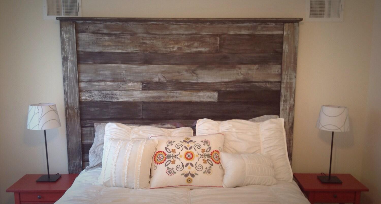 Tête de lit bois rustique par SouthPhillyBarn sur Etsy ~ Tete De Lit Bois Rustique