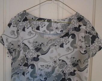 Size 12 Polyester Womens Dress, Maxi Dress, Black and Silver Dress, Summer Dress, Beach Dress