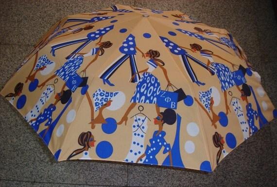 Zeta Phi Beta Sorority Lady Diva Umbrella