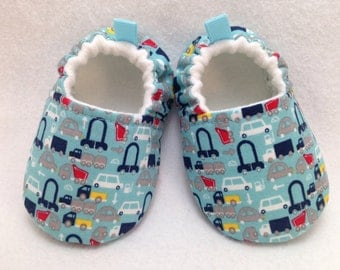 Cars Baby Shoes, Soft Sole Baby Shoes, Baby Booties, Baby shower gift, Toddler slippers