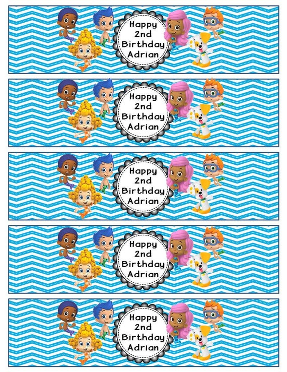 bubble bottle label template - pics for bubble guppies water