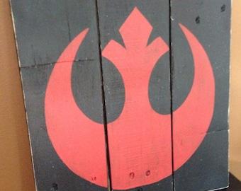 Star Wars Rebel Alliance Wood Sign