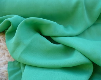 Green Rayon Crepe Fabric by the Yard, Fabric by the Yard, Rayon Yardage, Yardage