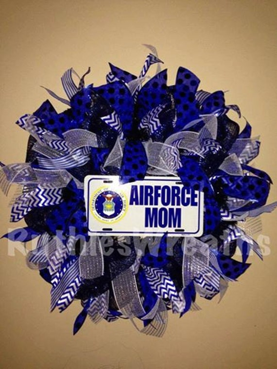 Items similar to united states air force mom usaf wreath for Air force decoration