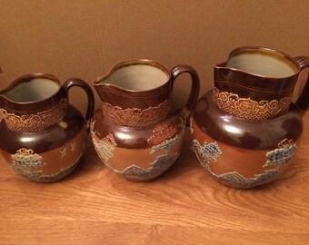Royal Doulton Jugs - Set Of Three