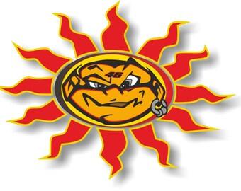 valentino rossi the sun logo decal sticker motorbike car. Black Bedroom Furniture Sets. Home Design Ideas