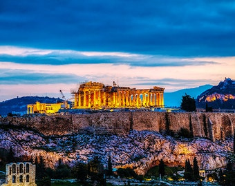 Greece - Athens - Acropolis in the evening after sunset - SKU 0103