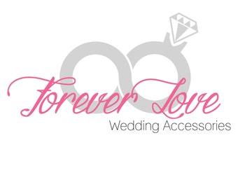 Wedding accessories logo, photography logo, premade logo design,