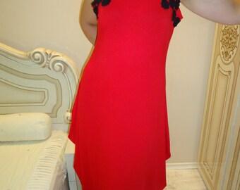 Red dress/Lase dress/Party dress/Long dress/Maxi dress/ Oversize dress/Tricot dress/Elegant dress/  / All sizes available Us Uk Eu