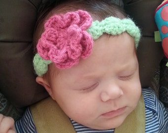 Crochet Baby Girl Headband- Made to Order