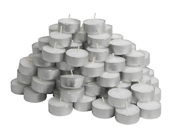 Pack of 5 Unscented Tealight Candles