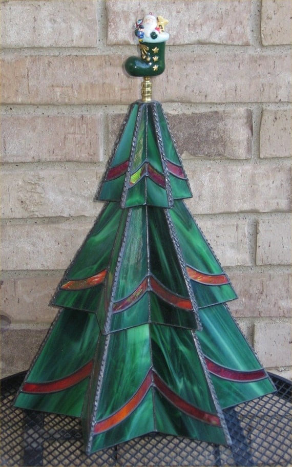 Stained Glass Three Tier Christmas Tree Pattern