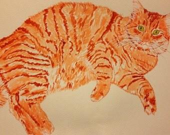 Cat Painting, Cat Print