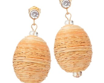 Lemon Drop Oval Twine Earrings