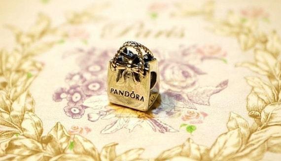 Pandora charm 925 silver gift bag ALE stamp crown stamp