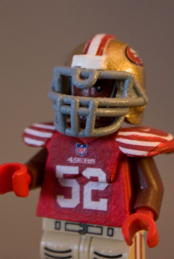 Items similar to Custom Lego Patrick Willis 49ers NFL American Football Minifigure on Etsy