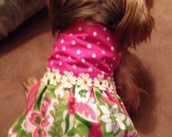 Reversible dogs party dress small