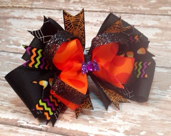 Halloween Mulitcolor Bow