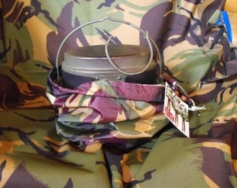 Swedish Army Trangia Stove Stuff Sack - Shaped and Sized to fit the stove specifically.