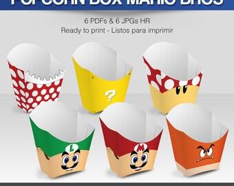 6 Popcorn Box Mario Bros