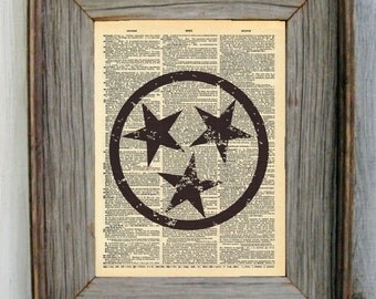 Tennessee Stars Dictionary Art Print