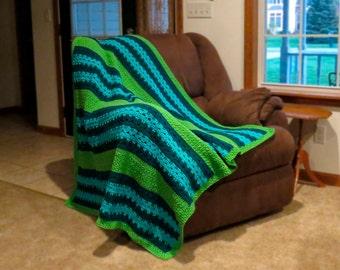 Crochet Pattern ~ Coastal Comfort Afghan Crochet Pattern