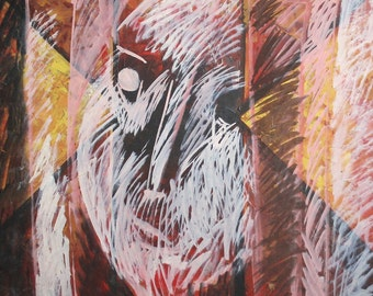 European  art oil painting abstract expressionism 1986 signed