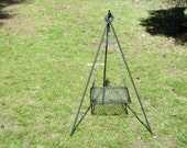 Tripod Campfire Cooker with trammel and grill