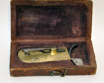 Genuine Vintage 18th century spring fleam, blood letting instrument. --  Free Shipping!