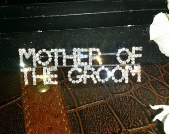 Mother of the Groom Brooch Gift with Pin Back