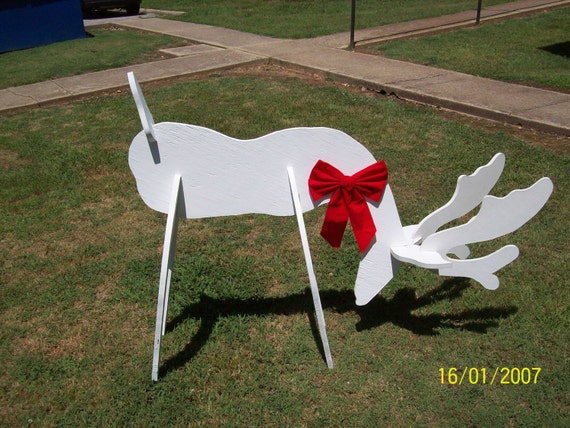 So cool christmas standing 3 d reindeer by ozarkgoldwoodplans for Wood lawn ornament patterns