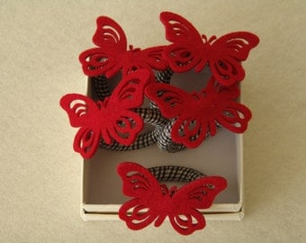 """Napkin Rings """"Butterfly"""" // """"Red Butterfly"""""""