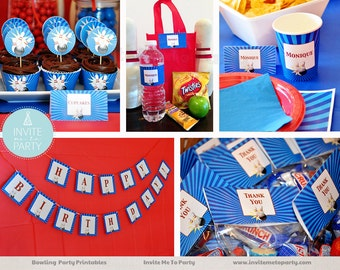 Bowling Party Decoration Printables