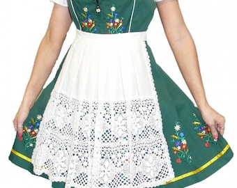 3-Piece Short Green German Dirndl Dress 2 4 6 8 10 12 14 18 20 22 24 XS S M L XL 2XL