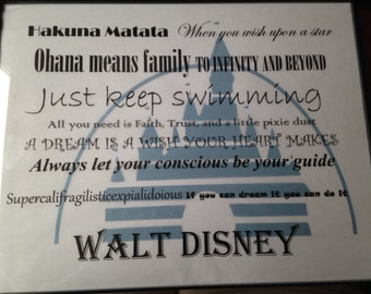 Disney Subway Word Art
