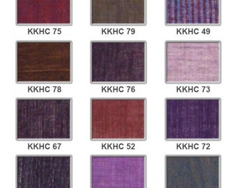 Hand loomed cotton - purples