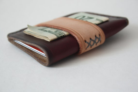 Rugged Handmade Men's Leather Card Wallet with by ...