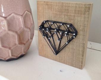 Oak wood with diamond