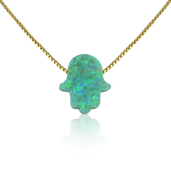 green opal necklace Real gold plated sterling silver chain BEST ONLINE PRICE