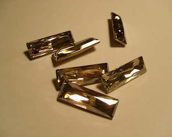 1 pc. Princess Baguette 30x10mm Crystal (001) Silver Shade Swarovski Crystallized 4547 SALE