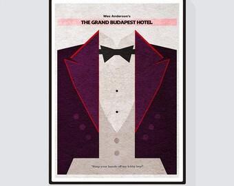 The Grand Budapest Hotel Minimalist Alternative Movie Print & Poster