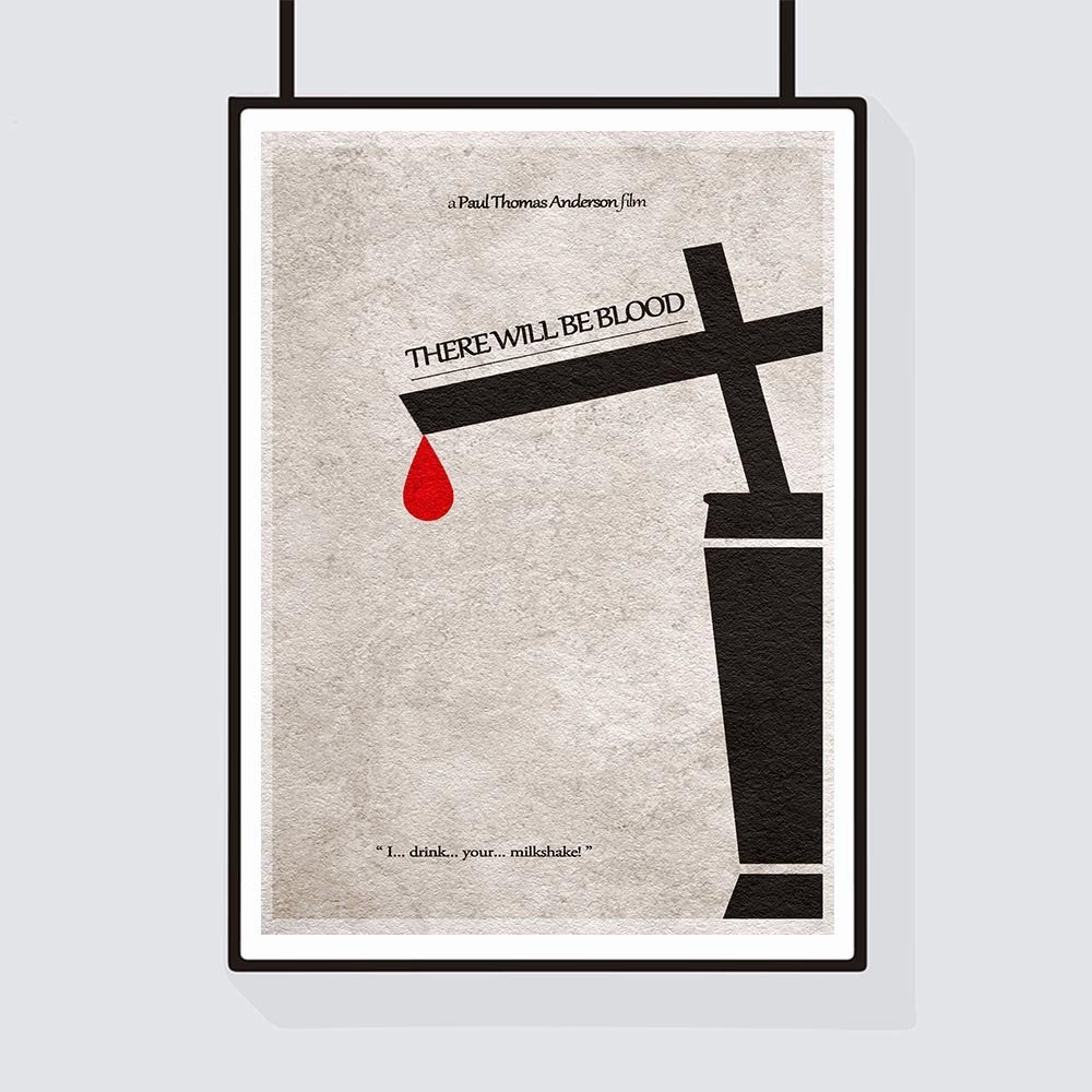 There will be blood milkshake poster