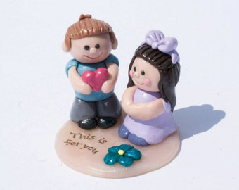 Couple -- This Is For You polymer clay figure