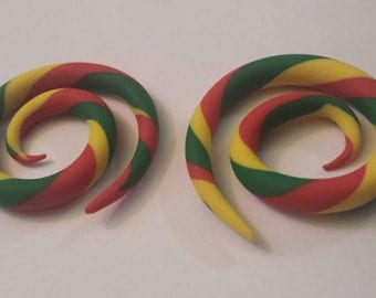 Swirly Rasta Gauges