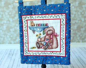Bears Quilt Wall Hanging ,  Kids room  Wall hanging decor . Ready to ship.