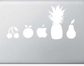 White fruit vinyl sticker for Apple Macbook Air/Retina/Pro