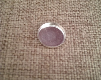 sterling silver 14 m''m round bezel cup