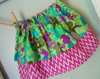 Twirl Skirt - Squirrels - Layered