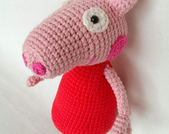 Hand made amigurumi toy pony. Hand crocheted horse made with