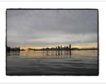 Seattle Skyline, after the Dive - Greeting Card